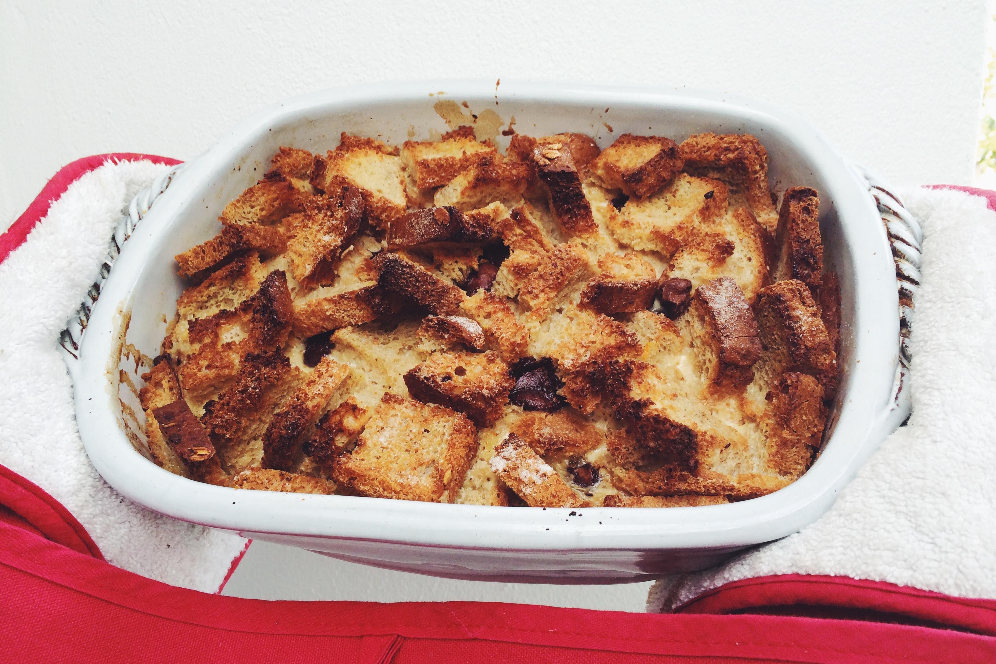Chocolate Chip Bread Pudding | Ben's Kitchen Blog